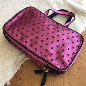 💎 Pink and Black Lace Makeup & Brush Bag